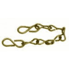 """Coupling Brass Chain W/Hooks 6"""""""