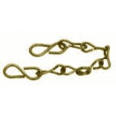 """Coupling Brass Chain W/Hooks 12"""""""