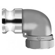 "Camlock 90? Elbow Adapter X FNPT 1-1/2"" Alum"