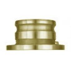 """Part TTFA Male Adapter X Truck Flange Brass 4"""""""