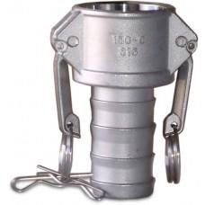 """CF600C Part C Coupler X Hose Shank Alum 6"""""""
