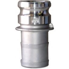 "CF150E Part E Adapter X Hose Shank Alum 1-1/2"""