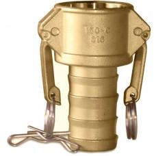 """CF200C Part C Coupler X Hose Shank Brass 2"""""""