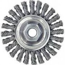 "Random Wire Stringer Bead Wheel 4""x 5/8""-11 Stainless Steel"