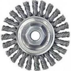 "Random Wire Stringer Bead Wheel 4""x 5/8""-11 Stainless Steel"