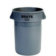 Rubbermaid Brute Round Waste Container 44 Gal Gray