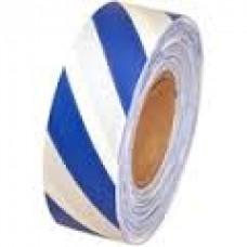 "Tape - 1-3/16"" x 300' Blue/White Flagging Tape"