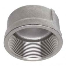 "1"" T304 Stainless Steel 150# Threaded Cap"