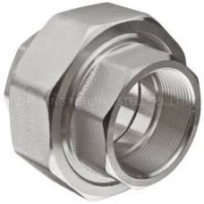 """1"""" T304 Stainless Steel Threaded Union 150#"""