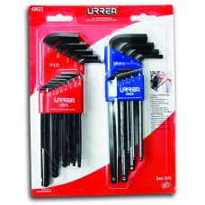 Hex Ball End L-Type Wrench Set 22 PC