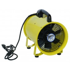 "MaxxAir Axial Hose Fan 12"" Portable Exhaust Blower 2000 CFM 2-Speed"