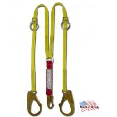 6' Double Lanyard Shock Absorbing w/Pelican Hooks