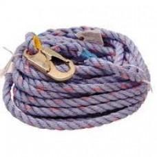 """VL100 5/8"""" X 100' Poly Lifeline Rope w/Hooks"""
