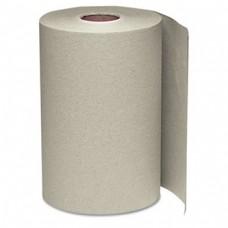 "Winsoft Brown Paper Roll Towels 1PLY 8""X350' 12/CS"