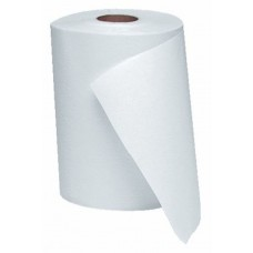 "Windsoft White Paper Roll Towels 1Ply 8"" x 350' 12/CS"