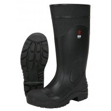 MCR 16 Inch Black PVC Steel Toe Rubber Boot