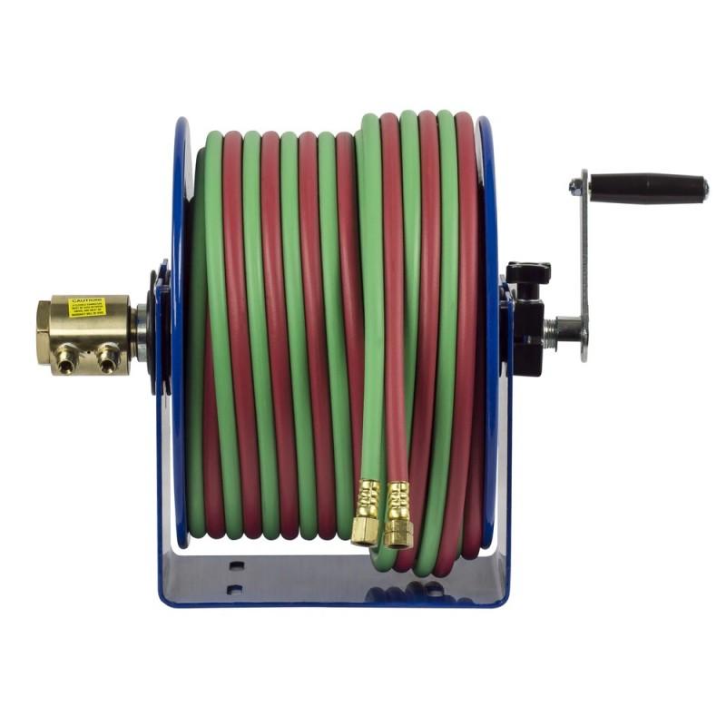 Coxreels 112W-1-100 Welding Hand Crank Hose Reel 1/4inx100ft oxy-acet. 200PSI (2)