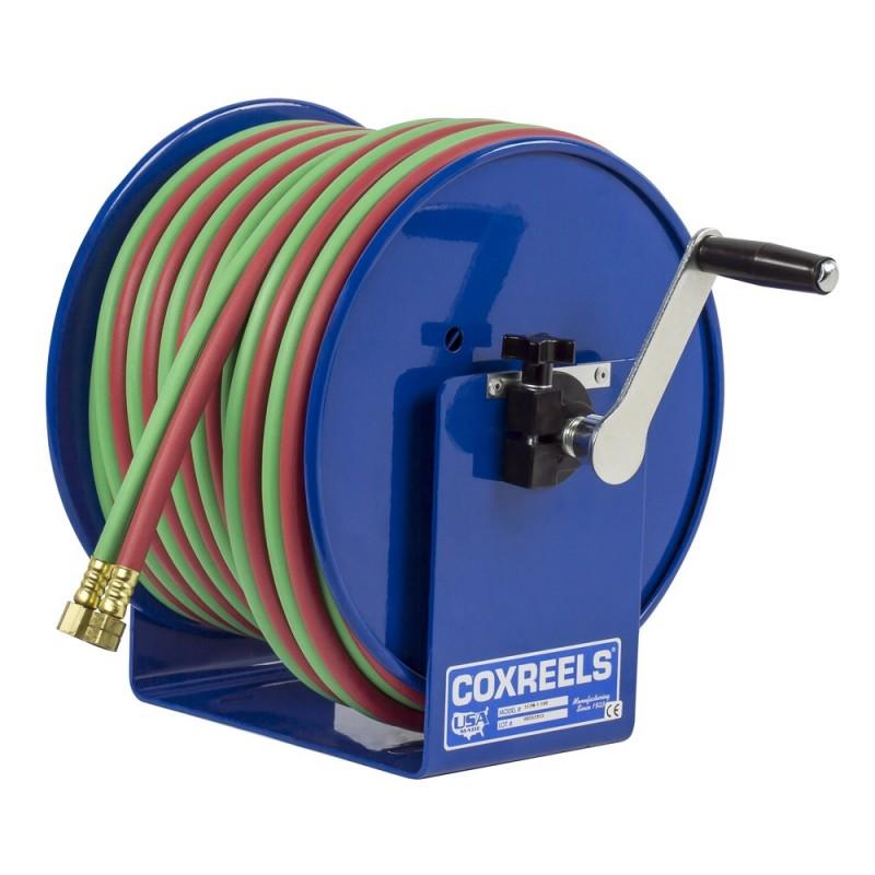 Coxreels 112W-1-100 Welding Hand Crank Hose Reel 1/4inx100ft oxy-acet. 200PSI (5)