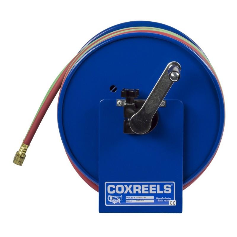 Coxreels 112W-1-100 Welding Hand Crank Hose Reel 1/4inx100ft oxy-acet. 200PSI (7)