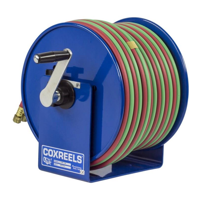 Coxreels 112W-1-100 Welding Hand Crank Hose Reel 1/4inx100ft oxy-acet. 200PSI (8)