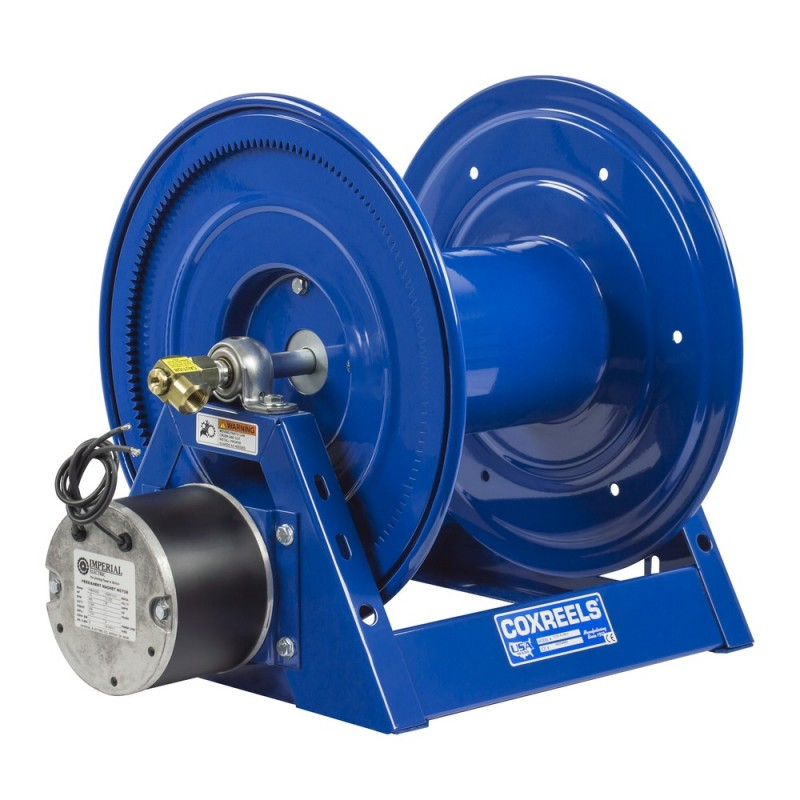 Coxreels 1125-4-100-EA 115V 1/2HP Motorized Hose Reel 1/2inx100ft no hose (1)