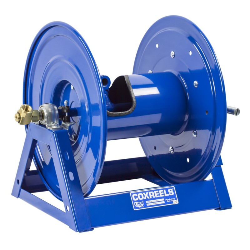 Coxreels 1275-6-75-C Bevel Geared Hand Crank Dual Hose Reel 1inx75ft no hose (1)