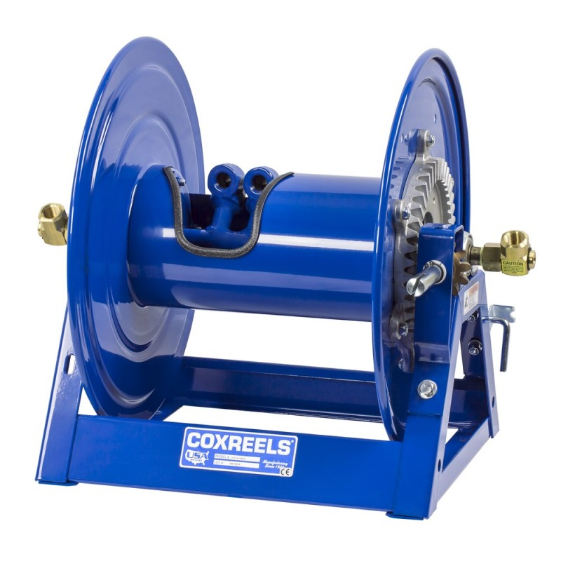 Coxreels 1275-6-75-C Bevel Geared Hand Crank Dual Hose Reel 1inx75ft no hose (9)