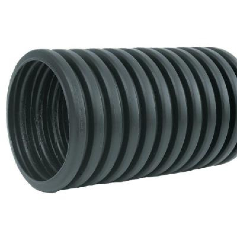 """6"""" Heavy-Duty Corrugated Poly Drainage Tubing Solid"""