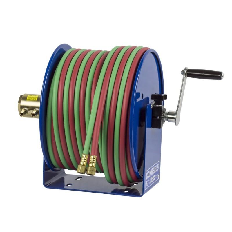 Coxreels 112W-1-100 Welding Hand Crank Hose Reel 1/4inx100ft oxy-acet. 200PSI