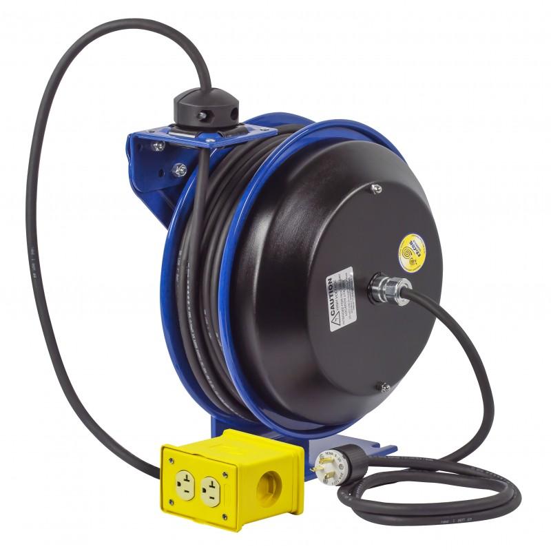 Coxreels EZ-PC13-5012-B Safety System Spring Driven Cord Reel 50ft Quad Rec