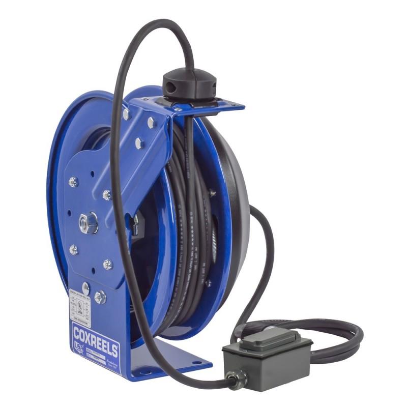Coxreels PC13-5012-F Spring Driven Cord Reel Duplex Industrial Rec 12GAx50ft