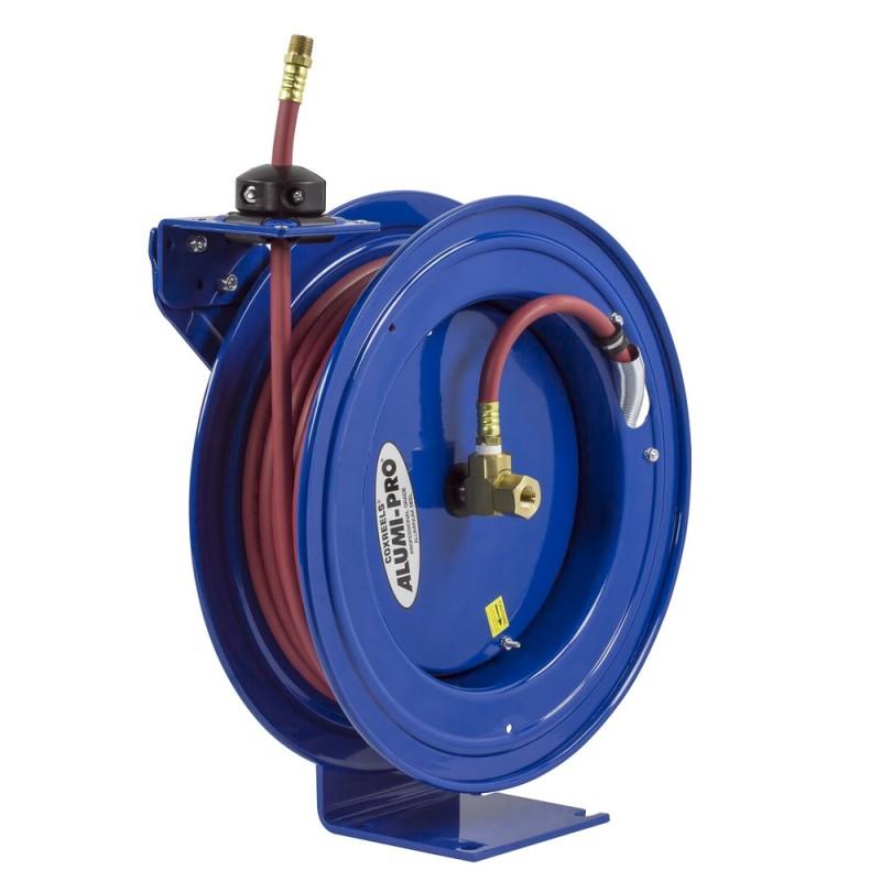 Coxreels P-LP-325-AL Spring Driven Aluminum Hose Reel 3/8inx25ft 300PSI (4)