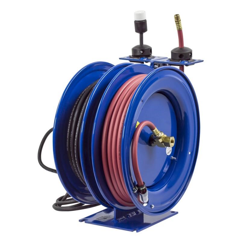 Coxreels C-L350-5012-A Dual Purpose Spring Rewind Reels 3/8inx50ft - 12AWGx50ft (3)