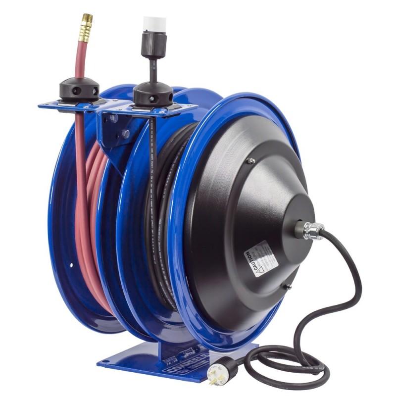 Coxreels C-L350-5012-A Dual Purpose Spring Rewind Reels 3/8inx50ft - 12AWGx50ft (4)