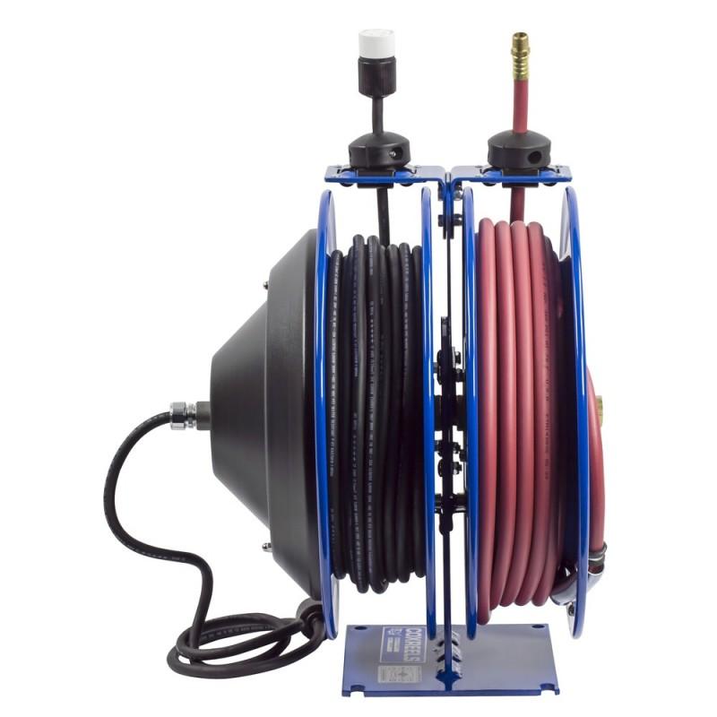 Coxreels C-L350-5012-A Dual Purpose Spring Rewind Reels 3/8inx50ft - 12AWGx50ft (5)
