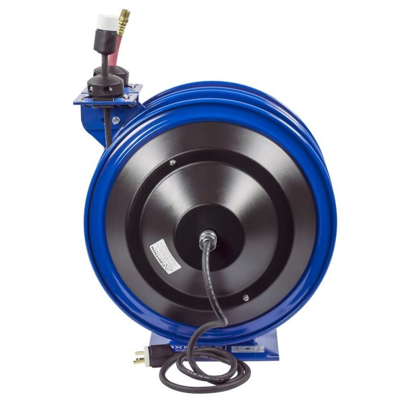 Coxreels C-L350-5012-A Dual Purpose Spring Rewind Reels 3/8inx50ft - 12AWGx50ft (6)