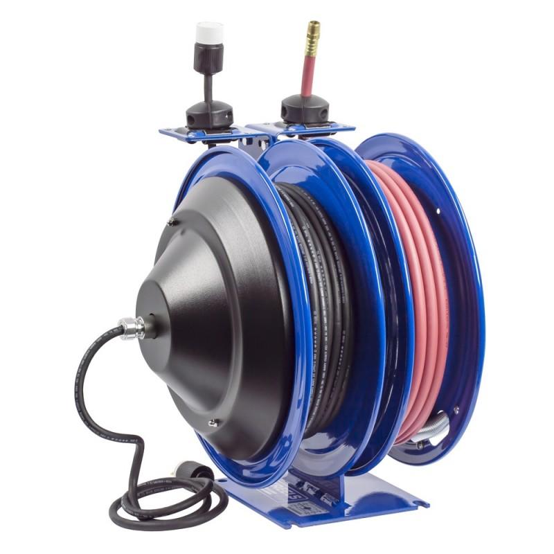 Coxreels C-L350-5012-A Dual Purpose Spring Rewind Reels 3/8inx50ft - 12AWGx50ft (7)