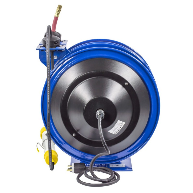 Coxreels C-L350-5016-C Dual Purpose Spring Rewind Reels 3/8inx50ft 300PSI; Fluorescent Tube Light 50ft cord 16 AWG (6)