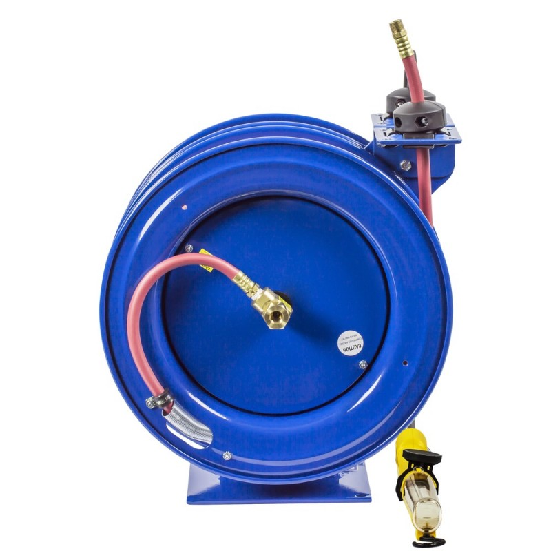 Coxreels C-L350-5016-D Dual Purpose Spring Rewind Reels 3/8inx50ft 300PSI; Fluorescent Angle Light 50ft cord 16 AWG (2)