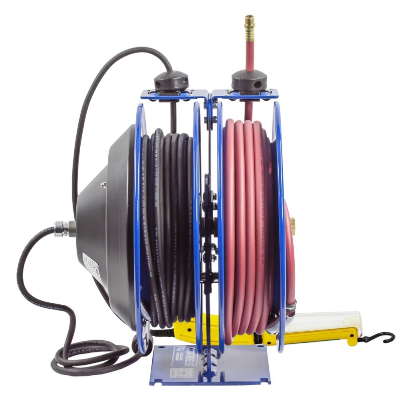 Coxreels C-L350-5016-D Dual Purpose Spring Rewind Reels 3/8inx50ft 300PSI; Fluorescent Angle Light 50ft cord 16 AWG (5)