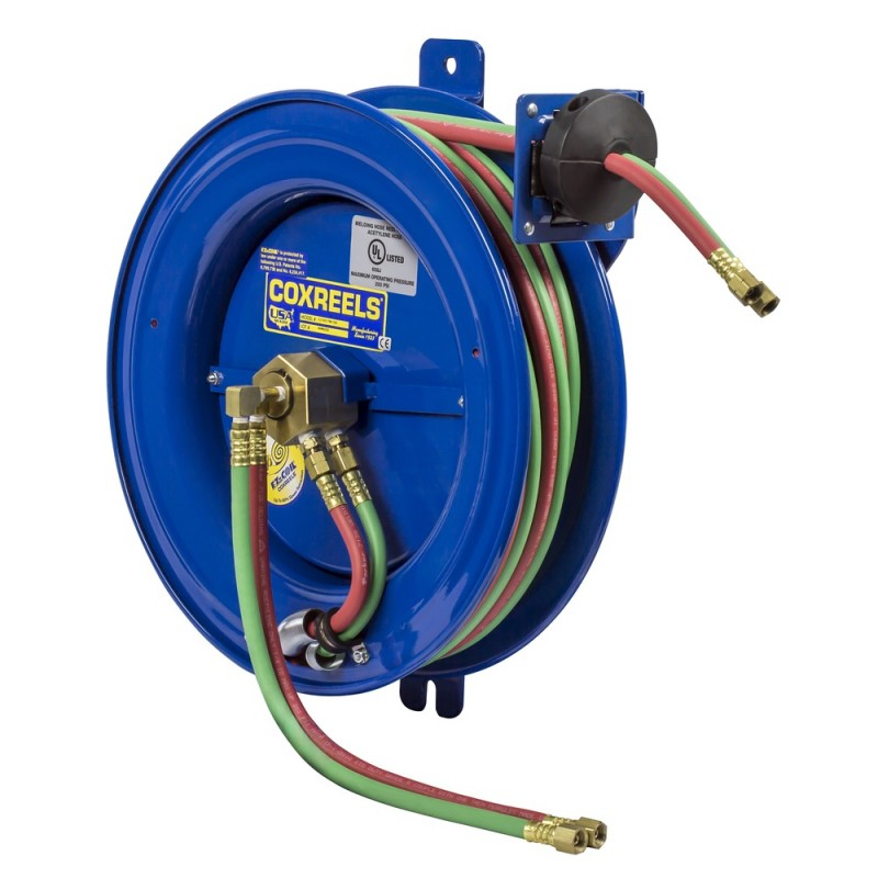 Coxreels EZ-SG19W-175 Safety System Side Mount Welding Hose Reel 1/4in oxy-acet (1)