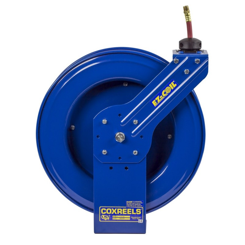 Coxreels EZ-HP-350 Safety System Heavy Duty Spring Driven Hose Reel 3/8inx50ft (2)