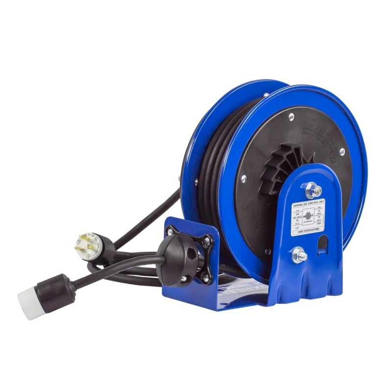 Coxreels PC10-3012-A Compact Spring Driven Cord Reel Single Receptacle 12GAx30ft (4)