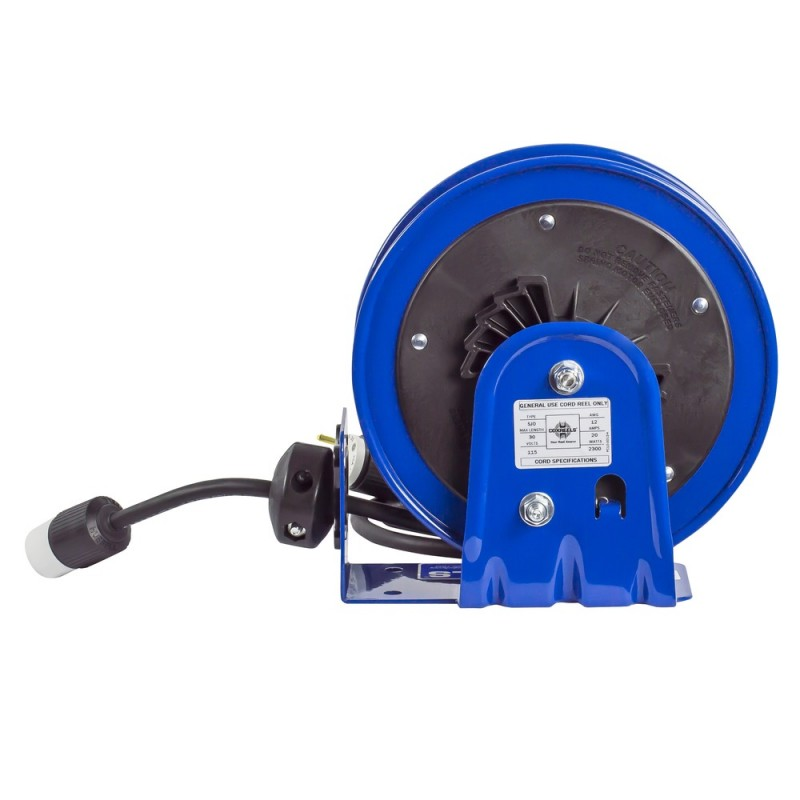 Coxreels PC10-3012-A Compact Spring Driven Cord Reel Single Receptacle 12GAx30ft (6)