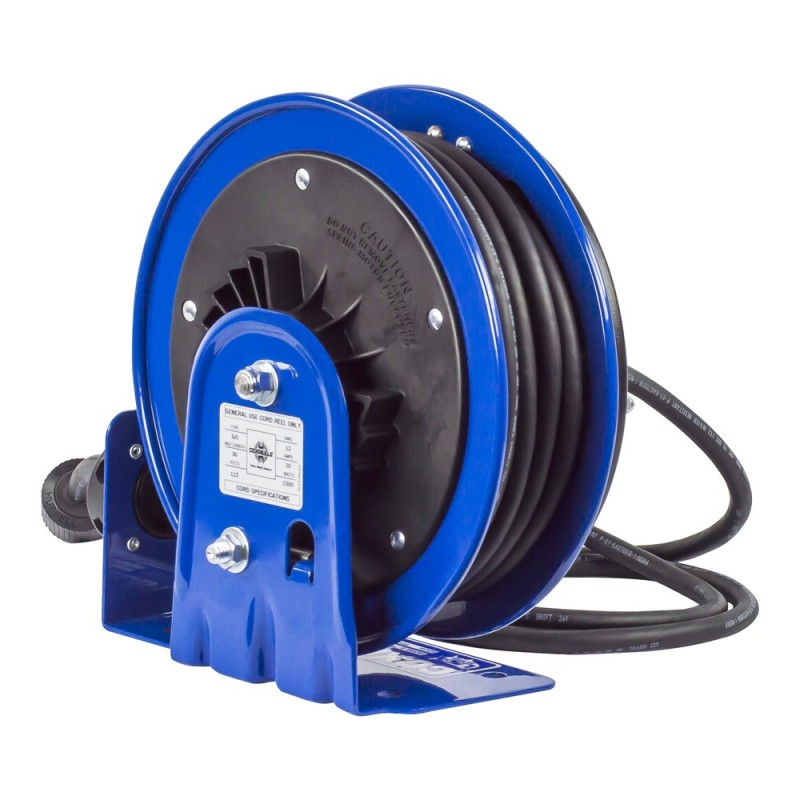 Coxreels PC10-3012-A Compact Spring Driven Cord Reel Single Receptacle 12GAx30ft (7)