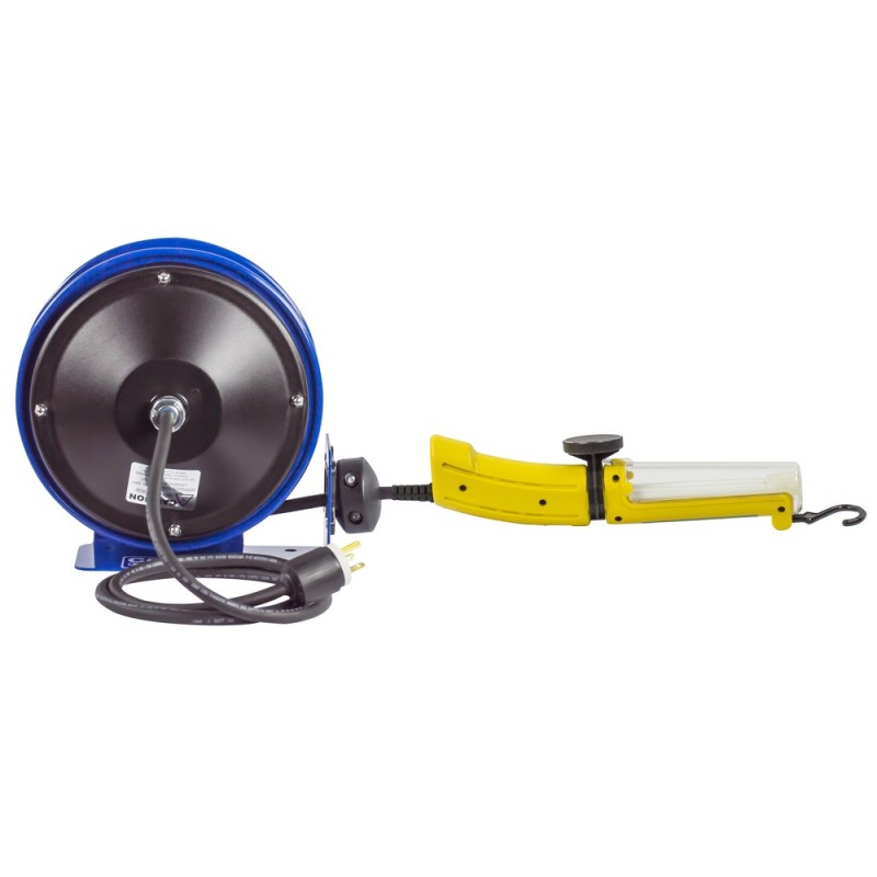 Coxreels PC10-3016-D Compact Spring Driven Cord Reel Fluor Angle Light 16GAx30ft (2)