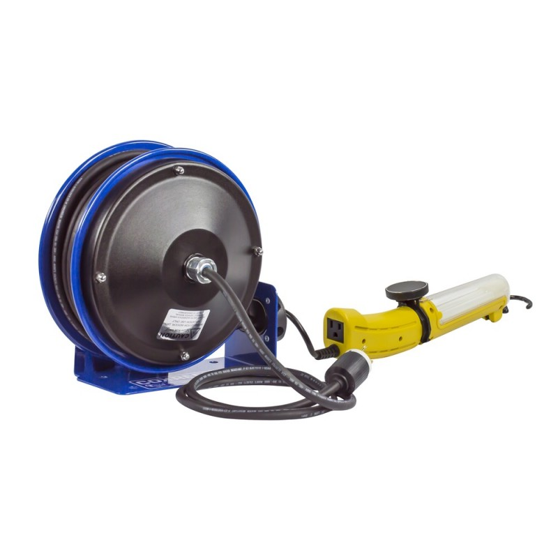 Coxreels PC10-3016-D Compact Spring Driven Cord Reel Fluor Angle Light 16GAx30ft (3)