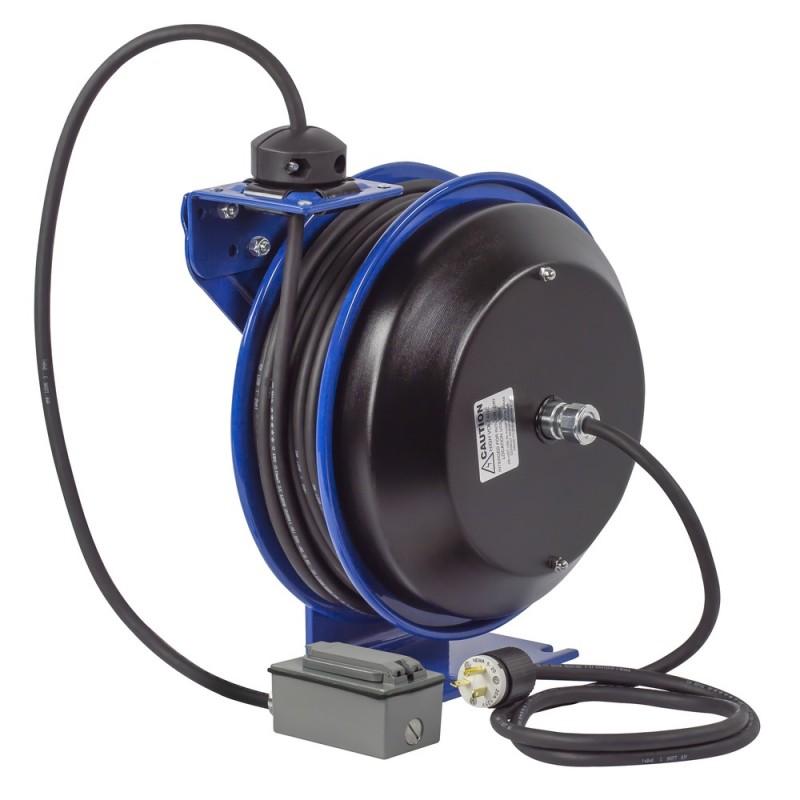 Coxreels PC13-5012-F Spring Driven Cord Reel Duplex Industrial Rec 12GAx50ft (4)