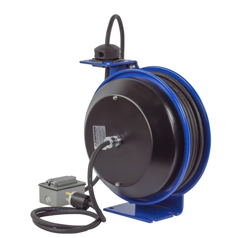 Coxreels PC13-3512-F Spring Driven Cord Reel Duplex Industrial Rec12GAx35ft (7)