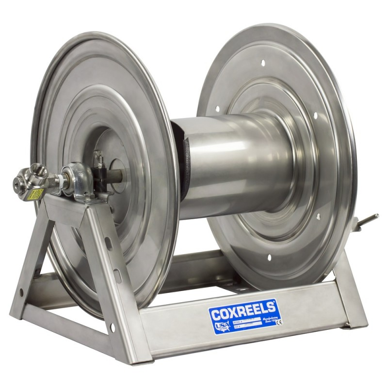 Coxreels 1125-5-200-SP Stainless Steel Hand Crank Hose Reel 3/4inx200ft no hose (1)